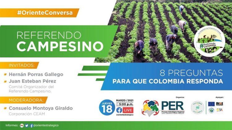 Buscan un Referéndum Campesino en Colombia