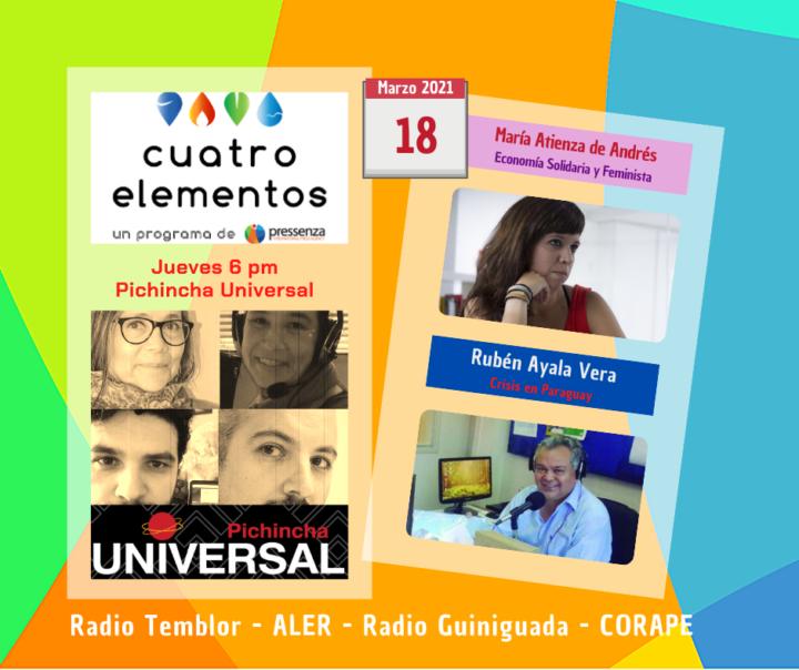 Cuatro Elementos 18/03/2021 Economía feminista y crisis en Paraguay