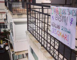 Kadınlar İstanbul Sözleşmesi için üçüncü kez pencerelerde