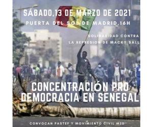 Madrid: senegaleses protestan contra la represión