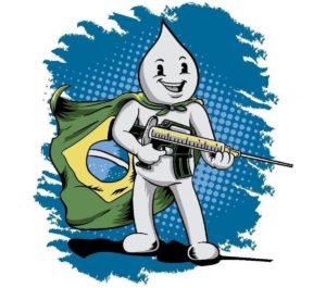 Brasile: Zé Gotinha diventa militarista