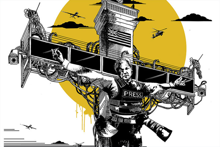 Collateral Crucifixion – Pressuring for Julian Assange's Release!
