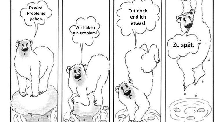 Gedanken eines Eisbären zur globalen Erwärmung