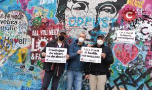 Messaggio da Praga: investire nella salute, non nelle armi