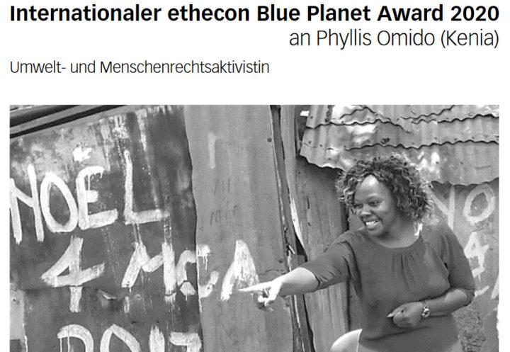 ethecon: Klima-Aktivistin geehrt, AMAZON-Gründer am Pranger