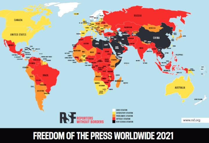 Ελευθερία του Τύπου 2021: Η Ελλάδα στην 70η θέση στον κόσμο