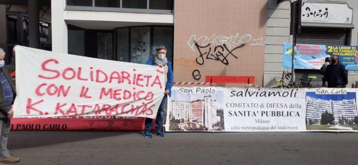 striscioni Milano 10 aprile
