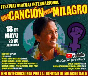 El 18 de mayo tendrá lugar el festival virtual «Una canción para Milagro»