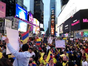 #SOSColombia in Times Square in Photos