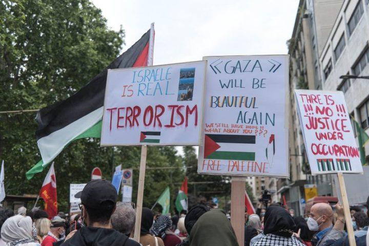 """Milano: """"Quello che avviene in Palestina è un massacro"""""""