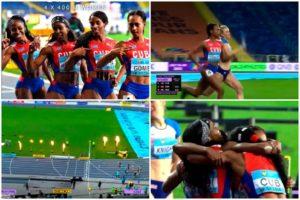 Atletas cubanas ganan 4×400 metros en Mundial de relevos