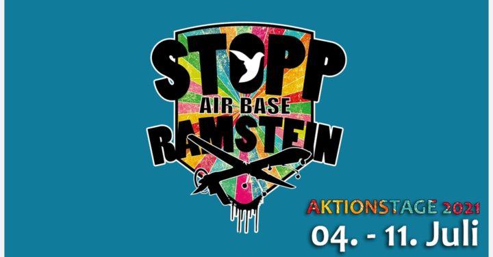 Trotz Ausgangssperre Proteste gegen die Air Base Ramstein und Drohnenkrieg