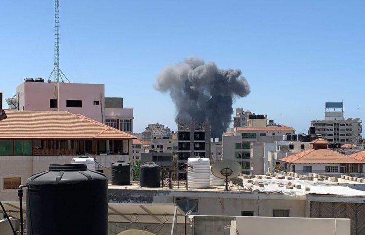 The Israeli bombing of civilian neighborhoods in the Gaza Strip 2021