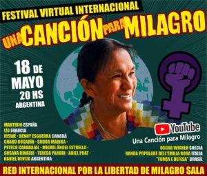 El 18 de mayo tendrá lugar el festival virtual «Una canción para Milagro