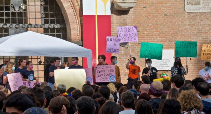 #moltopiùdizan, anche a Bologna si manifesta per il Ddl Zan