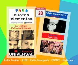 Cuatro Elementos 20/05/2021 Convención Constitucional en Chile y Madrid: 15 M y elecciones