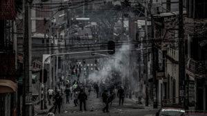 Piquetes de la Policía: como perros de caza en la protesta social