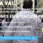 Sindicato de AMYTS apoya la iniciativa de dimisiones en bloque que impulsan los médicos de Atención Primaria