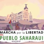 The colours of Western Sahara flood the centre of Madrid, calling on Spain to fulfil its obligation as an administering power