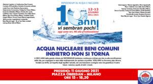 Milano: decennale referendum acqua e nucleare