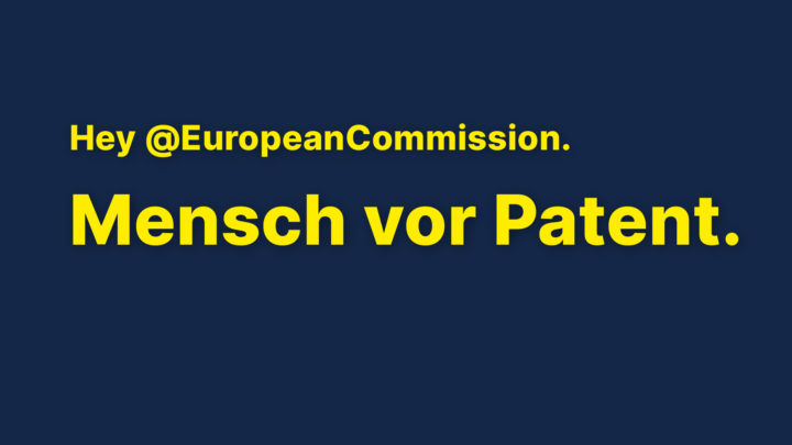Aktionswoche für Patentfreigabe in Berlin: Bundesregierung muss Blockadehaltung aufgeben