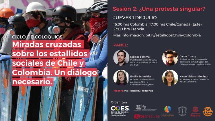MIradas cruzadas: los estallidos sociales de Chile y Colombia, un dialogo necesario