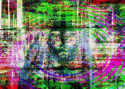 falla glitch art