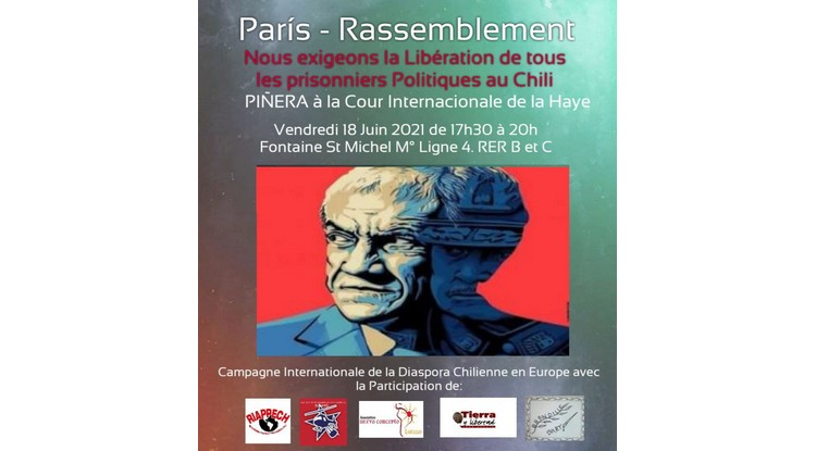 Campagne internationale de la Diaspora chilienne en Europe: Piñera à la Haye