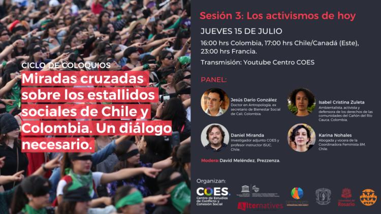 Tercer panel: Miradas cruzadas sobre los estallidos sociales en Chile y Colombia