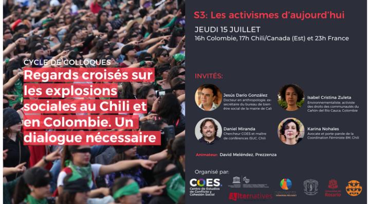 Troisième colloque : Regards croisés sur les explosions sociales au Chili et en Colombie