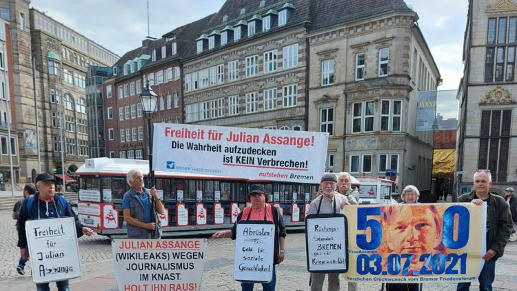 Solidarischer Glückwunsch aus Bremen zum 50. Geburtstag von Julian Assange