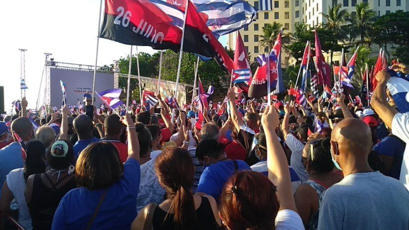 cuba 17 luglio manifestazioni appoggio alla rivoluzione cubana