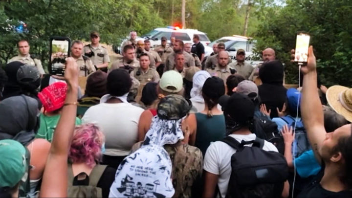"""""""Defending the Sacred"""": Indigenous Water Protectors Continue Resistance to Line 3 Pipeline in Minnesota"""