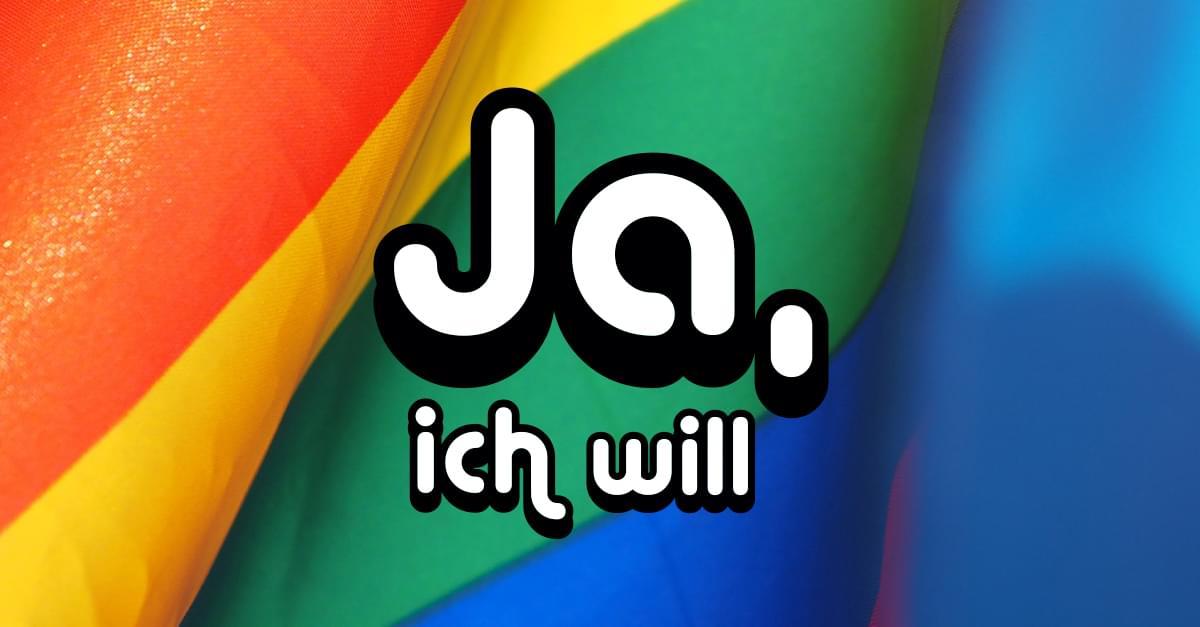 Ehe für Alle: Ein in der Verfassung garantiertes Menschenrecht!