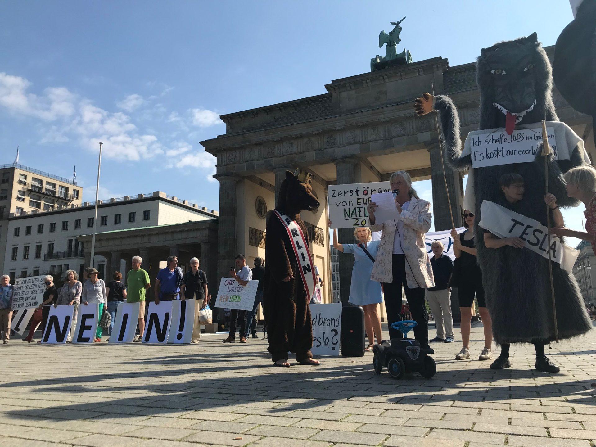 Wassertafel Berlin-Brandenburg sagt: TESLA, GOOD BYE!