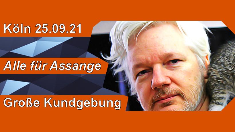 Alle für Assange - Große Kundgebung in Köln am 25.09.