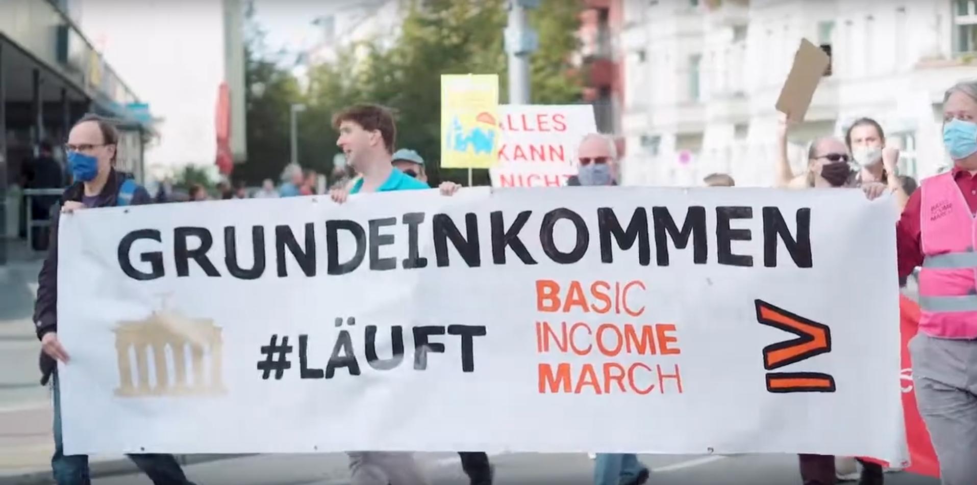 Marsch für das Bedingungslose Grundeinkommen (BGE) in Berlin