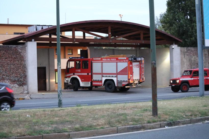 Incendio al CPR di Torino