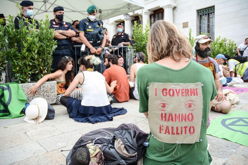 Extinction Rebellion sit-in