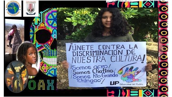 Universitarios de Oaxaca en la Marcha Latinoamericana
