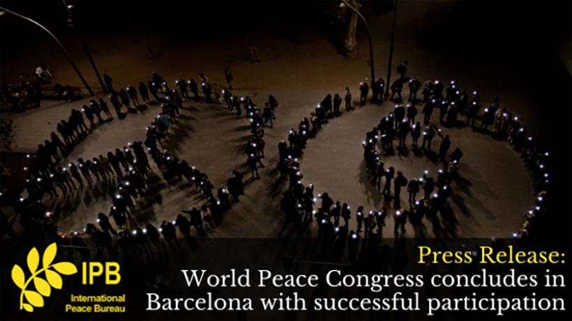 Frieden Weltkongress des International Peace Bureau (IPB) (Re)Imagine our World: Action for Peace and Justice!
