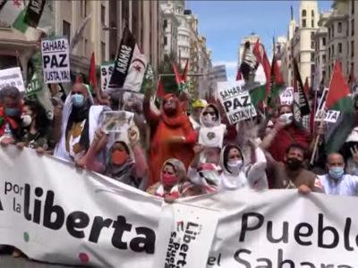 Madrid-marcha por la libertad del pblo saharaui 190621