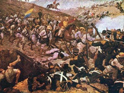 Batalla de Boyacá, Colombia, 1819. Obra de Martin Tovar y Tovar