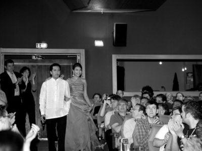 Auraeus Solito, Alexandra de Rossi at the Cannes Directors' Fortnight, 2011.