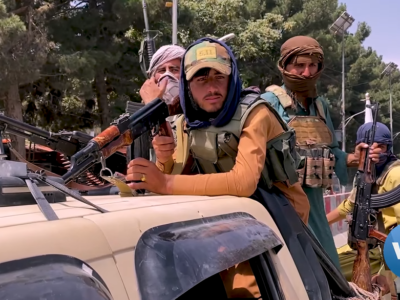 Taliban Fighters and Truck in Kabul, August 17 2021. Wikimedia commons