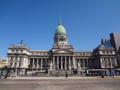 The palace of the two Congresses in Buenos Aires, Argentina