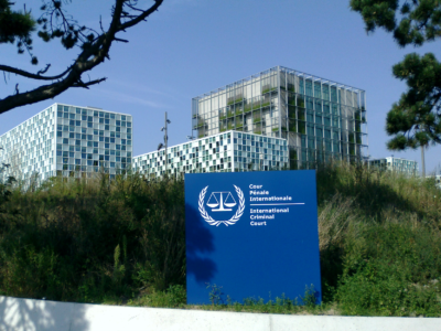 International Court Building in The Hague. Wikimedia Commons.