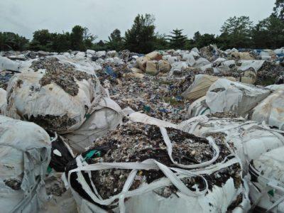 Dumped plastic waste
