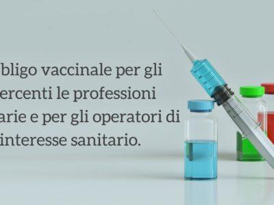 Obbligo Vaccinale Operatori Sanitari