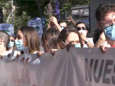 Médicos en Madrid durante huelga de 2020-Captura de video
